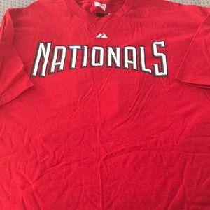 Washington Nationals Stasburg Jersey T Shirt XXL
